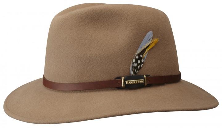 Stetson Orcut – elegantní plstěný klobouk v béžové barvě  82f3d65171