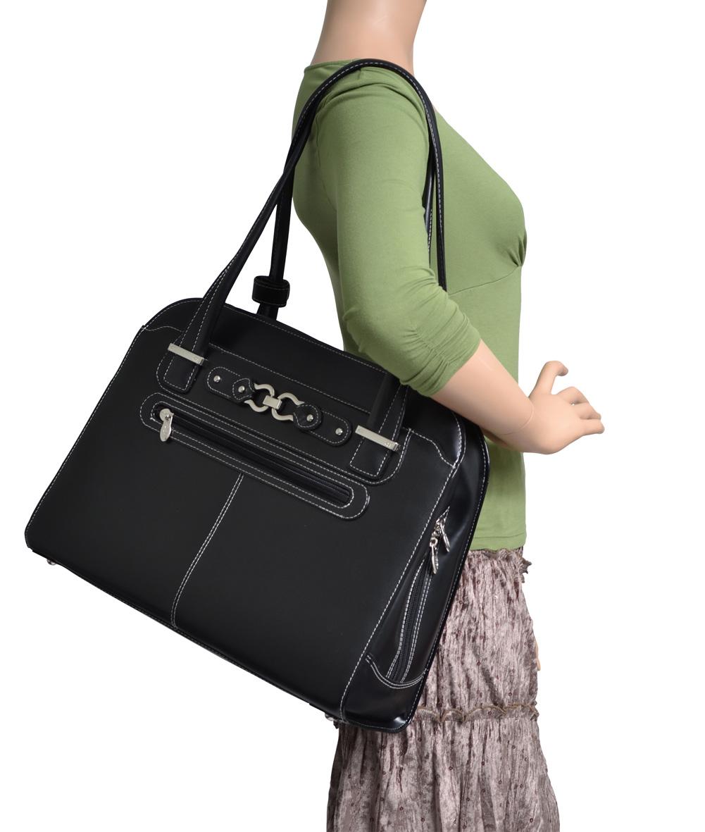 McKlein Mayfair je elegantní a přitom velmi prostorná kabelka na notebook ae60427ba5e