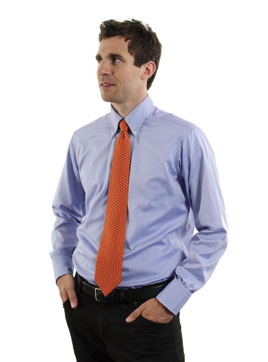 d82fd1e8553 Modrá button-down košile – absolutní americká klasika