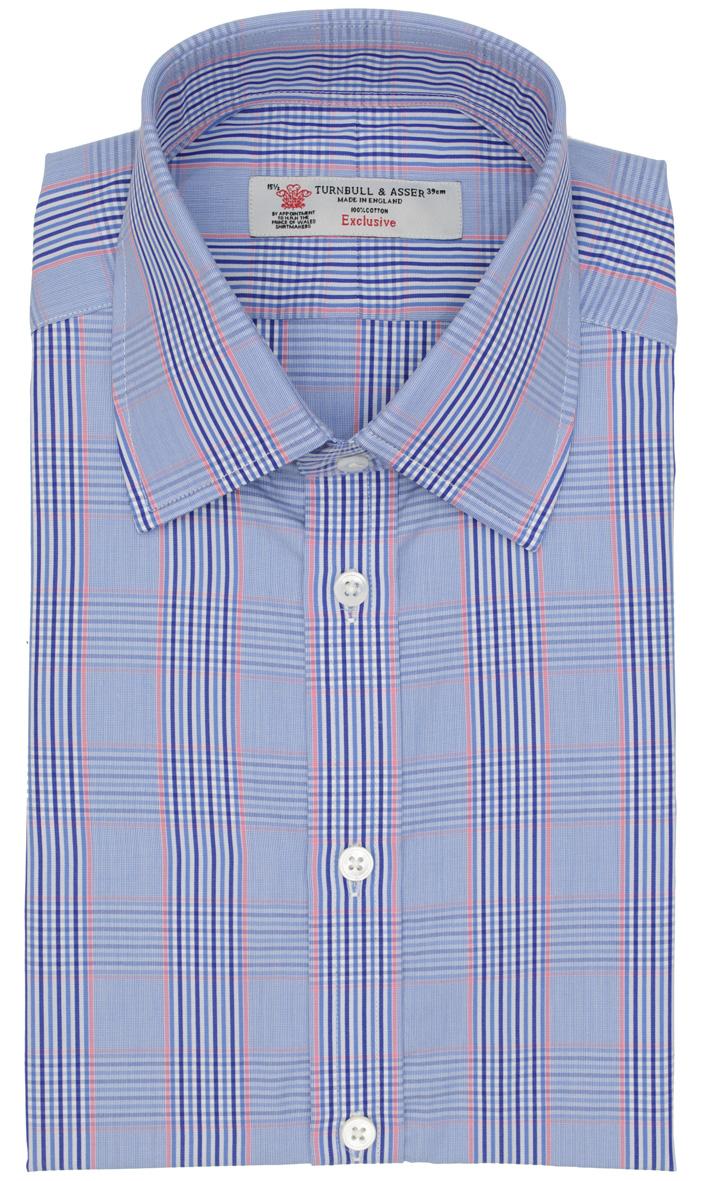 Modrá multicolor košile s kostičkou 496d9ee93d