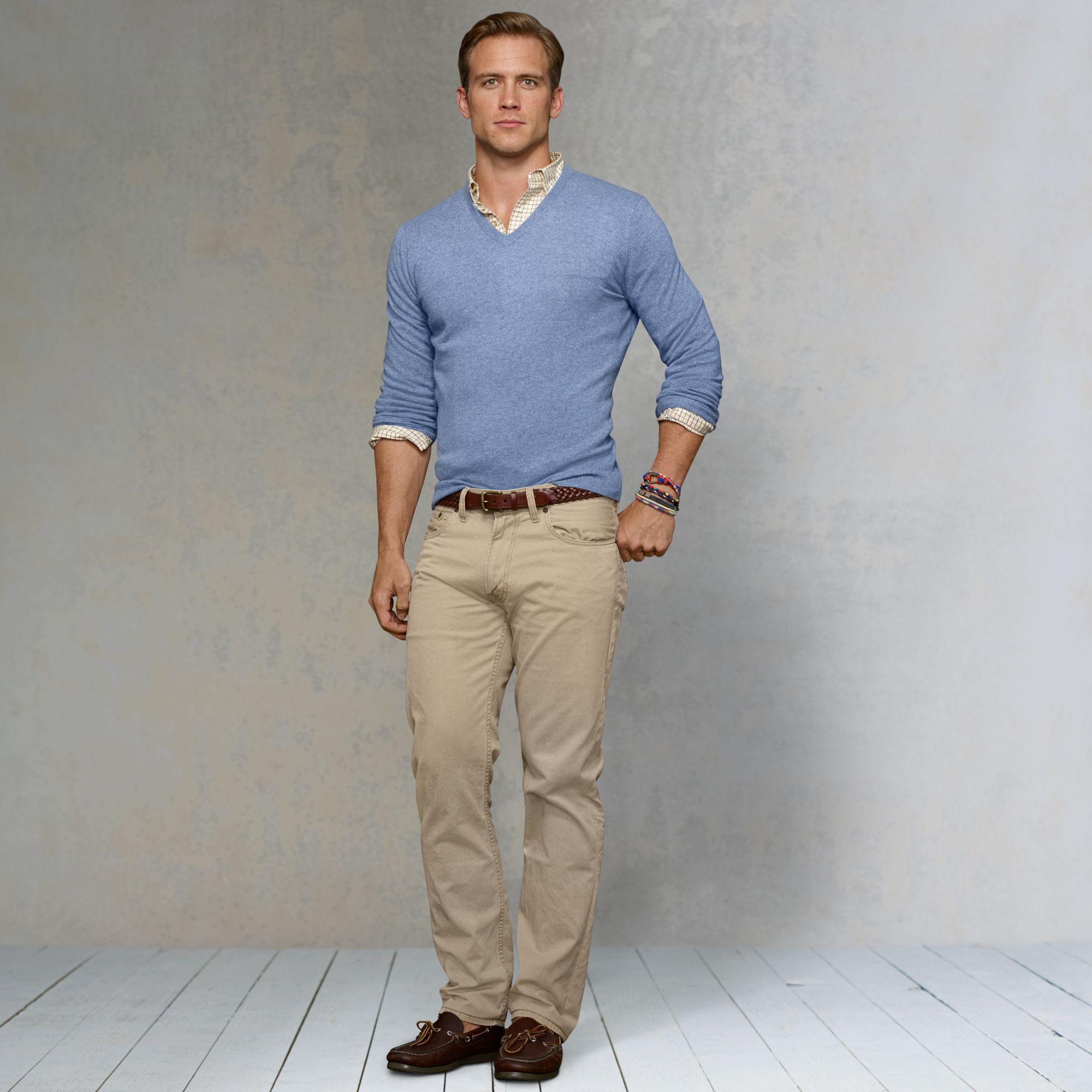Bavlněné khaki kalhoty (chinos) – letní volnočasová klasika  50dd2f5890
