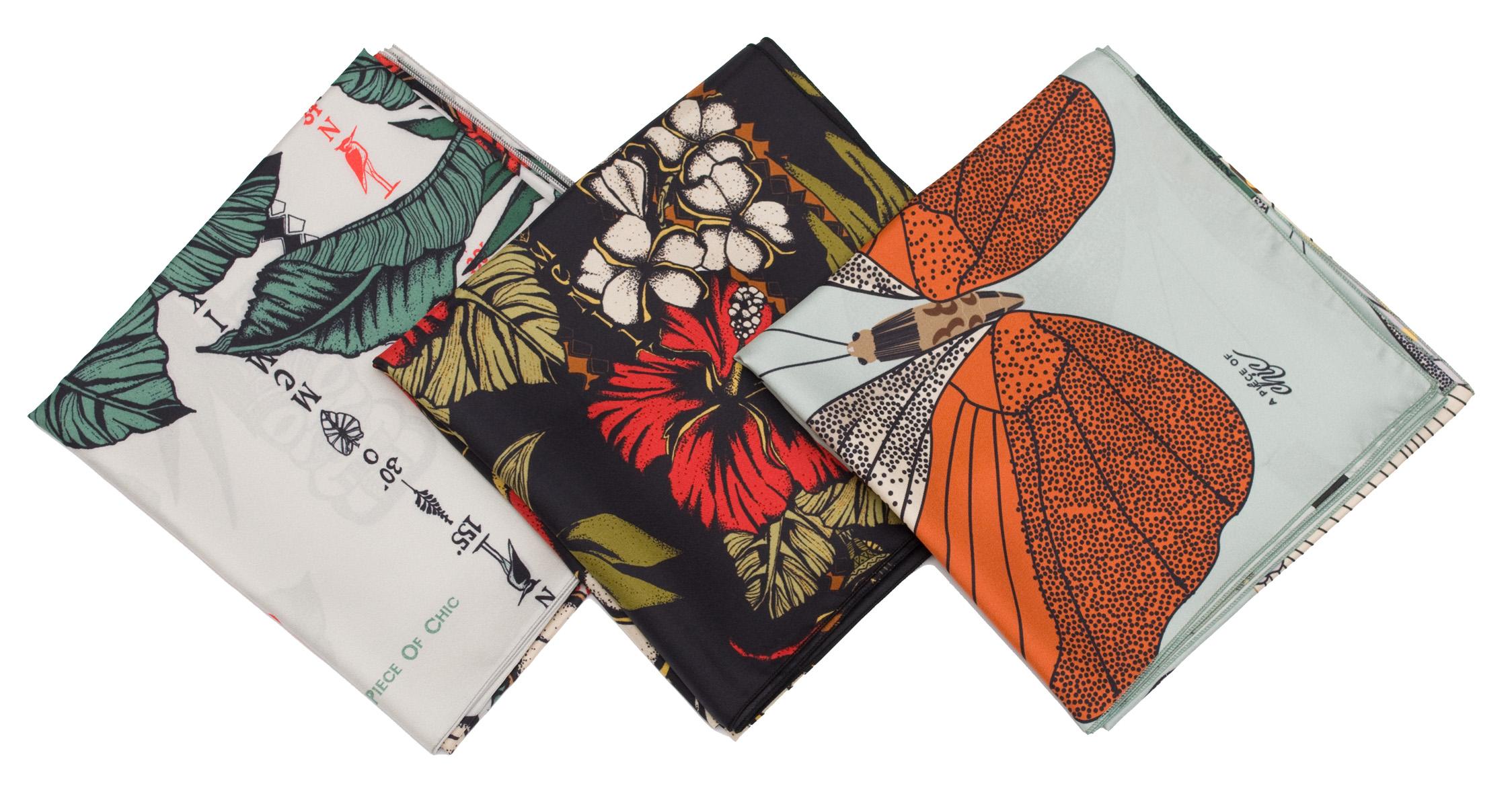 Nové luxusní hedvábné šátky francouzské značky A Piece of Chic ... 7dae000d7c