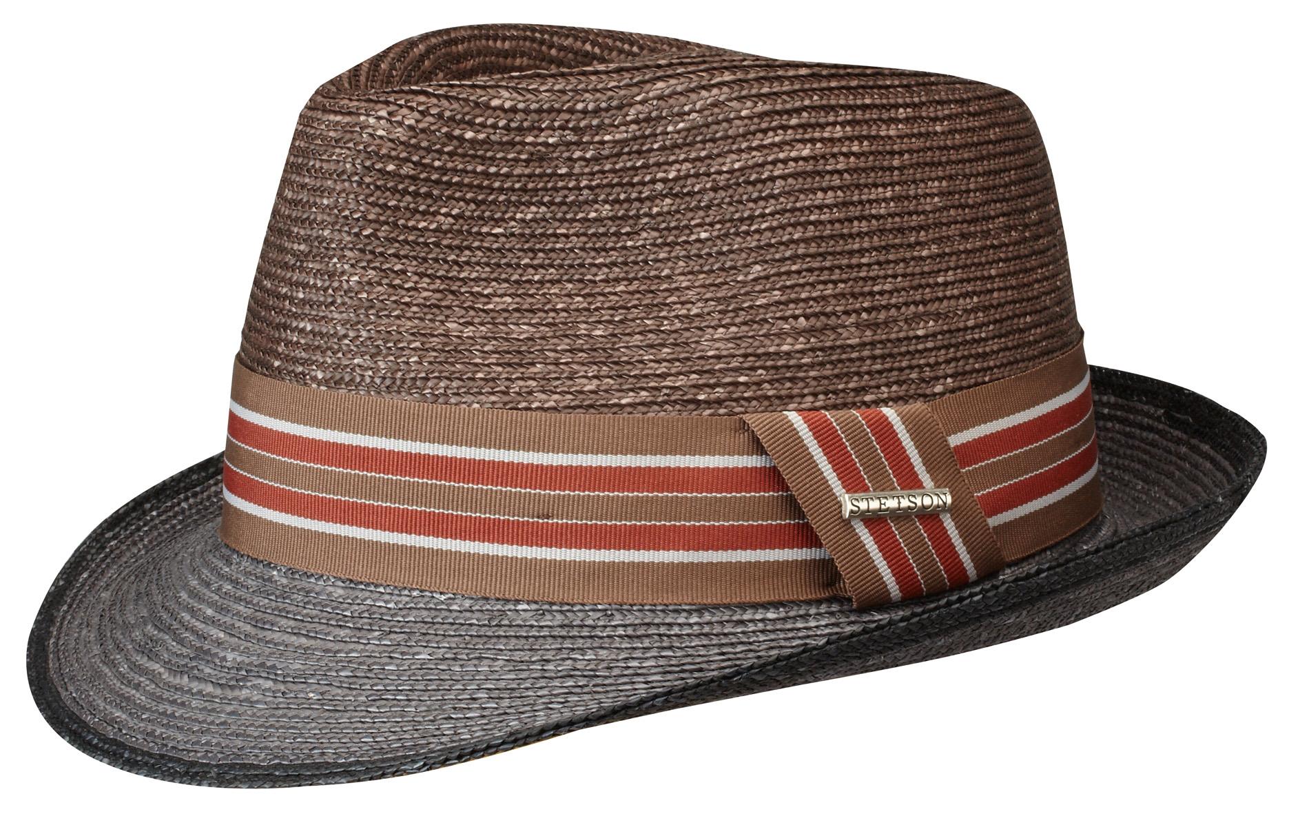Stetson Belmar je sportovně laděný slaměný klobouk se zvednutou krempou v  zadní části a širší ozdobnou stuhou. Koruna slamáku je v tmavěí hnědozlaté  barvě a ... a8bea2c7d8