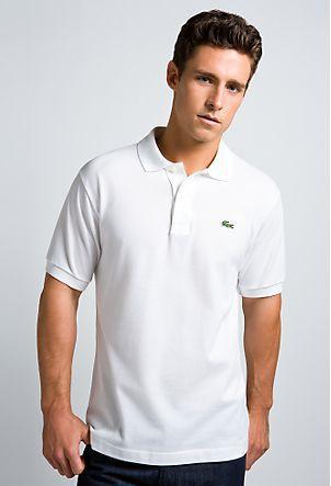 e91952802c65 Klasika - bílé polo tričko Lacoste